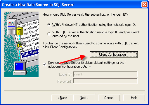 SQL Server Express Configuration for TCP/IP