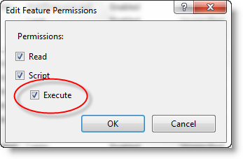 Handler Execute option