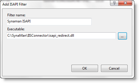 Point IIS to IISConnector In Synaman Install Directory