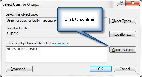 Fixing permission denied problem during SQL server backup