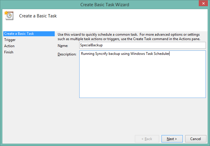 Manually creating a schedule task in Windows