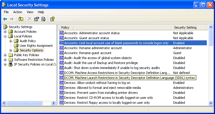 Using Windows Task Scheduler blank password